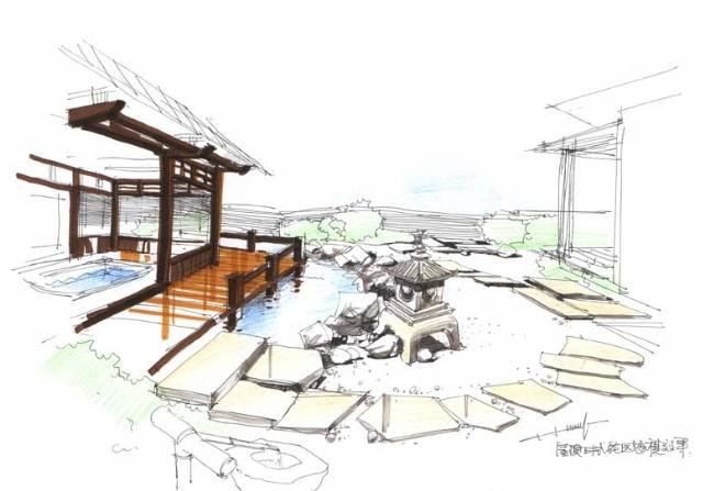 屋顶花园草图(手绘)-曾培鑫的设计师家园-其他图片