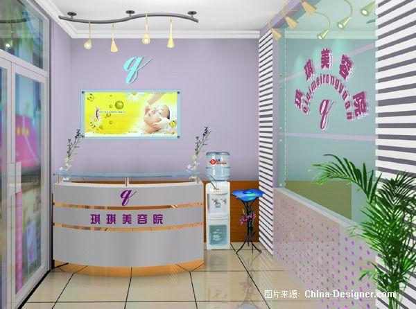 琪琪美容院收银台效果图-刘联军的设计师家园-其他图片
