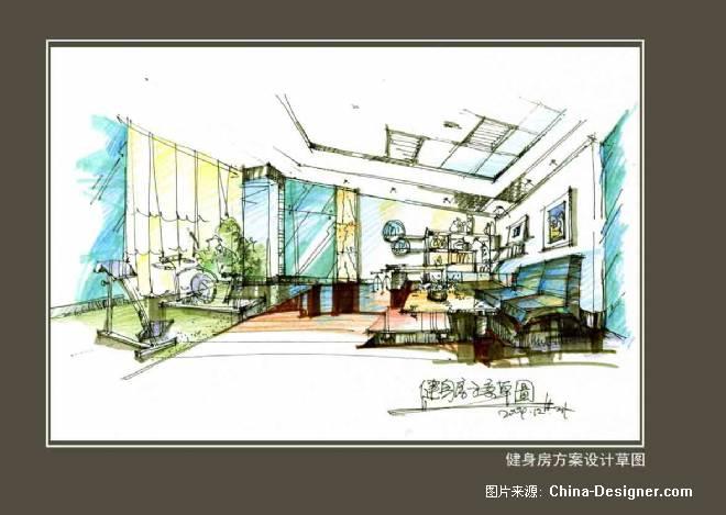 健身房设计草图-方路沙的设计师家园-住宅公寓
