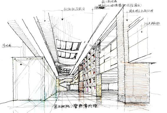 室内平面手绘模型