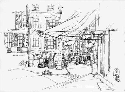《手绘速写》-设计师:毛城东.设计师家园-上海园林分.