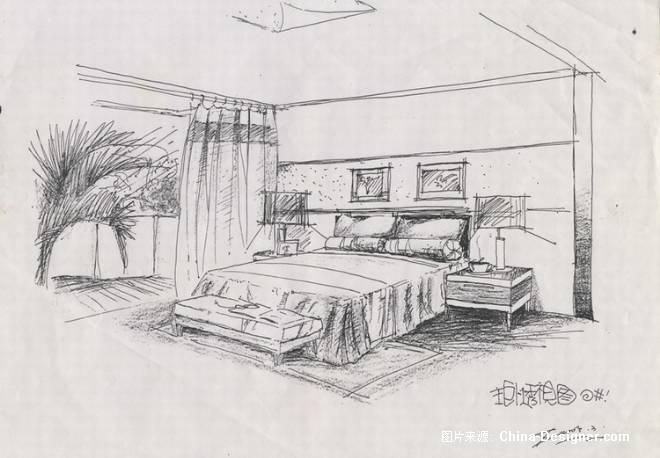 手绘房屋设计图
