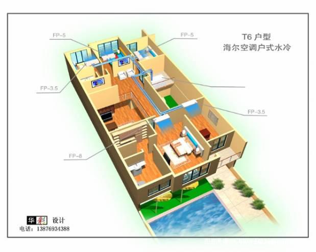 阳光经典某别墅中央空调管道图-彭华的设计师家园-别墅图片