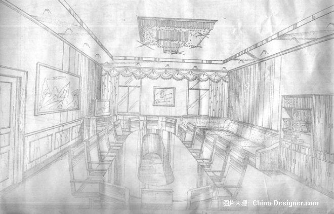 线描会议室-陈泓宇的设计师家园-办公楼