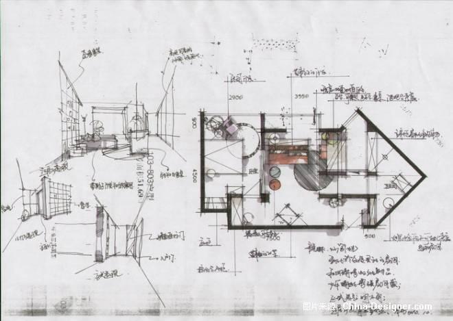 平面布局草图-刘红敏的设计师家园-住宅公寓