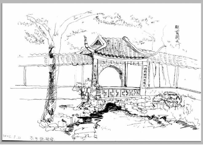 苏州园林写生-tt的设计师家园-其他图片