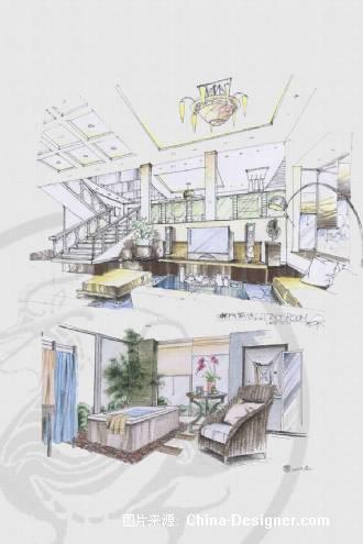 手绘排版-徐玉磊的设计师家园-住宅公寓