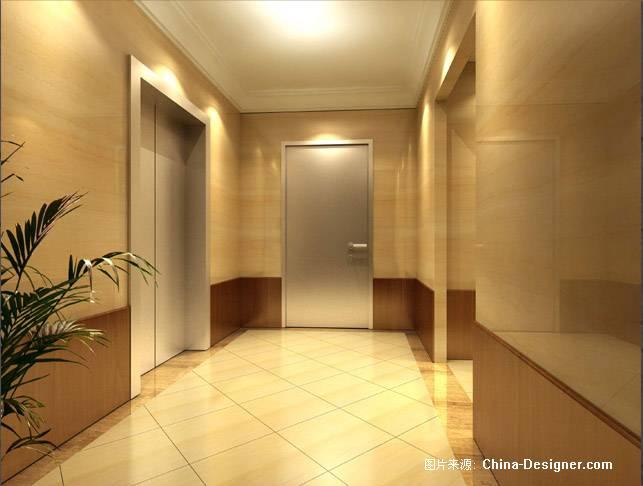 电梯间效果图-mp的设计师家园-住宅公寓