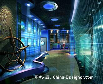 某海洋主题酒吧-常江玮的设计师家园-餐饮酒吧
