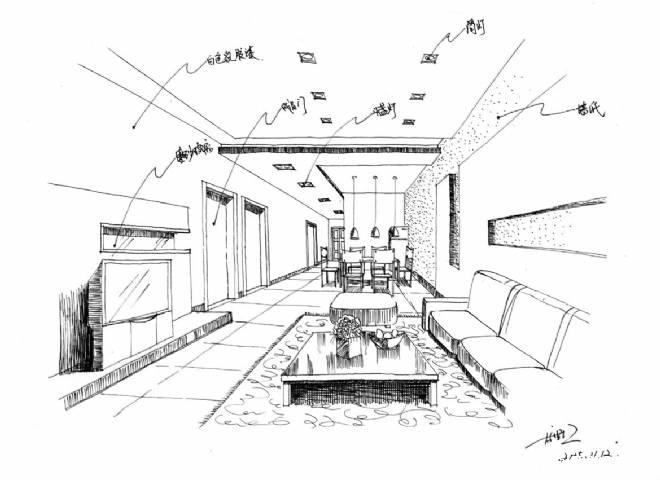 客厅手绘效果图-高洪江的设计师家园-其他