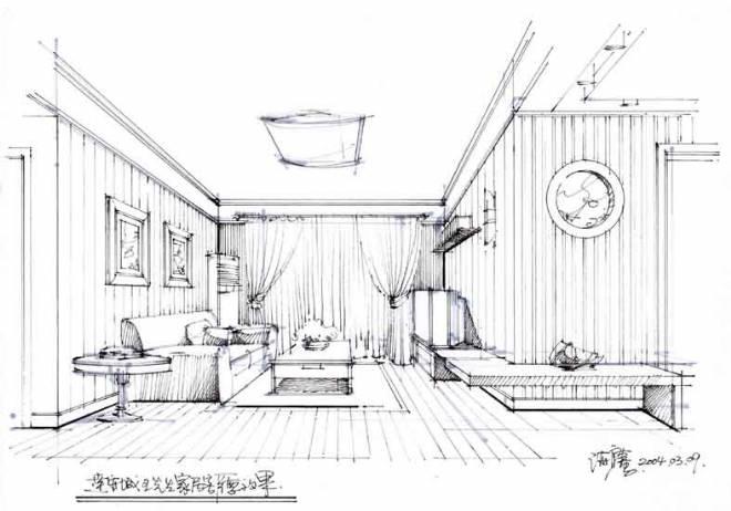 一点透视参考图-周云的设计师家园-住宅公寓