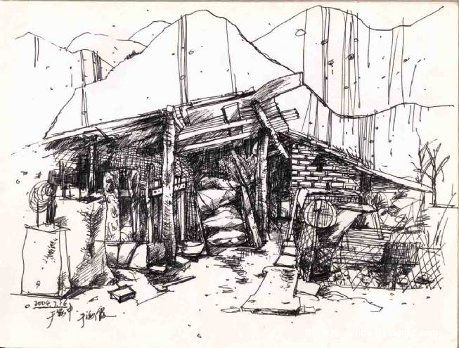 乡村风景速写-海霞的设计师家园-其他