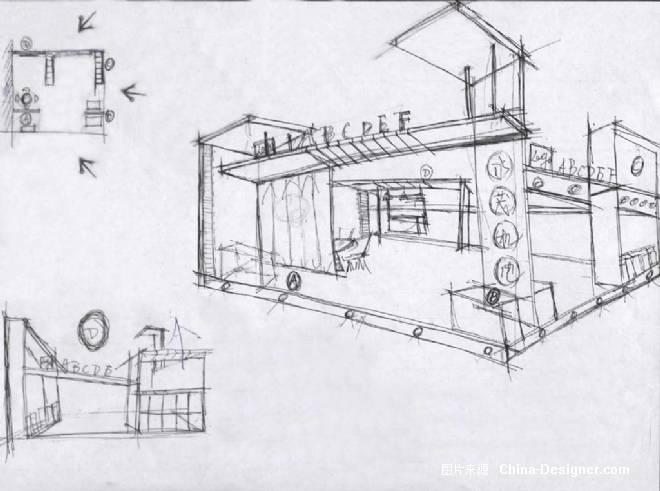 机电展示手绘-王刈的设计师家园-其他