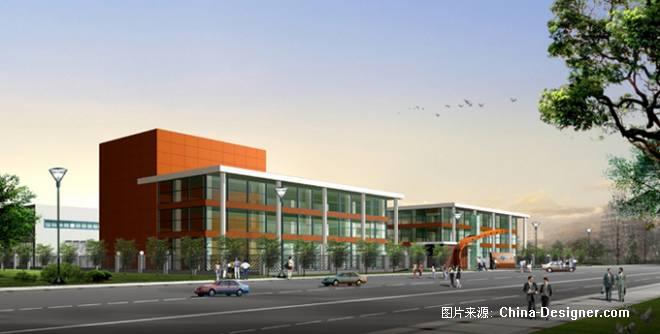 厂区办公楼透视,厂区规划-崇明的设计师家园-工厂