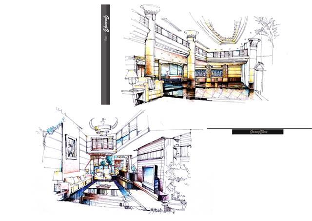 户型 户型图 简笔画 平面图 手绘 线稿 640_453