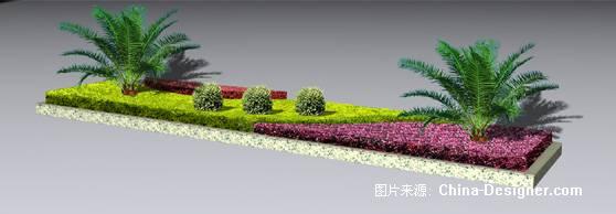 莲城大道花池种植设计-黔西县好居装饰工程有限公司的设计师家园-公园
