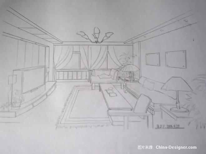 手绘室内效果图-白俊峰的设计师家园-住宅公寓
