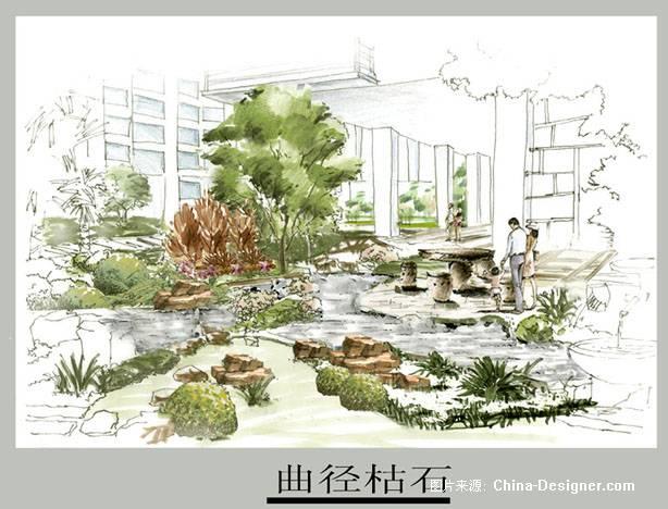 小区景观规划  手绘效果图>-三共的设计师家园-公园广场