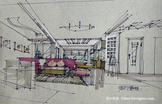 客厅透视-四川全成装饰工程有限公司的设计师家园-住宅公寓
