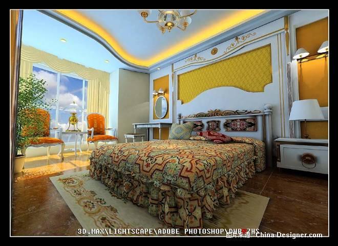 欧式卧室斜角视图-张松的设计师家园-住宅公寓