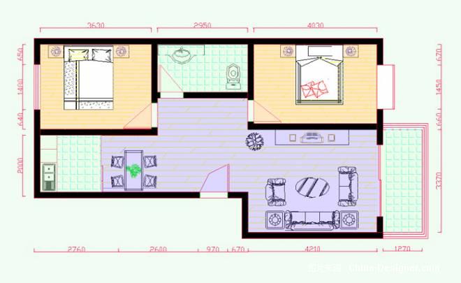 平面图-邢丽娟的设计师家园-住宅公寓