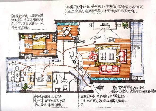 来张手绘平面图-谢志贤的设计师家园-住宅公寓