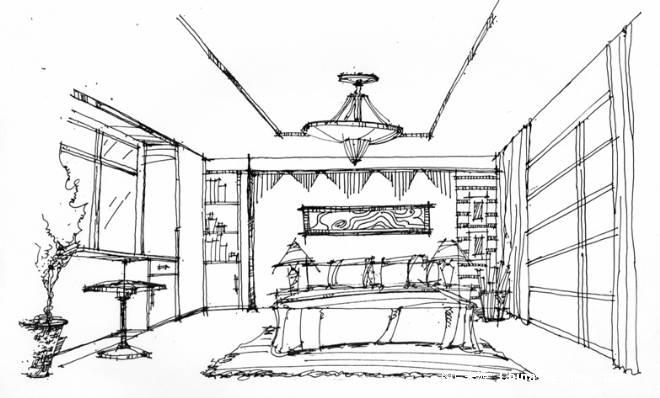 室内平面手绘图片