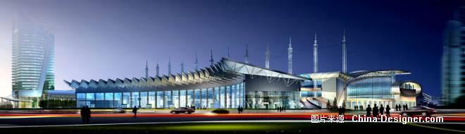 义乌会展中心夜景-郑州清水建筑画设计有限公司的设计师家园-会展剧场图片