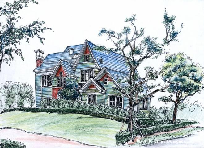 家园风景简笔画图片
