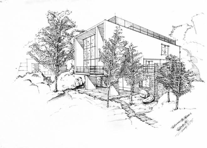 重庆代表建筑手绘