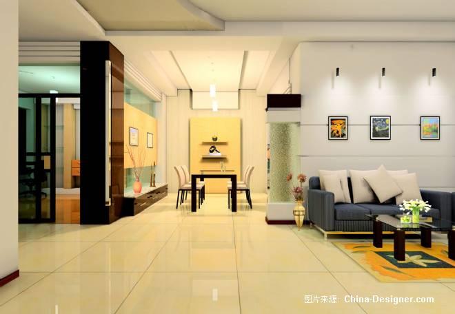 客厅餐厅造型效果图-张强的设计师家园-住宅公寓图片