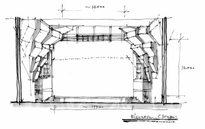 舞台台口造型概念草图图片