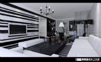 设计师家园-黑白灰的经典再现龙泉湾样品房设计
