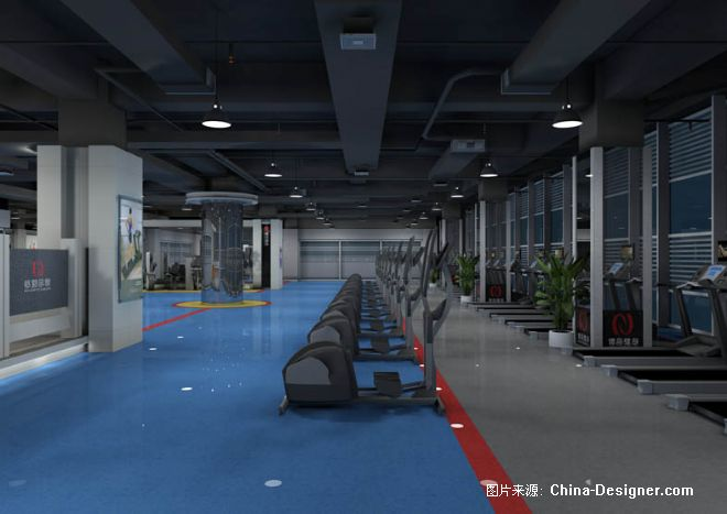 泰尼尔健身-北京青鸟西宁店-任为的设计师家园-健身会所/健身馆/健身中心/健身俱乐部,第七届中国国际室内设计双年展,现代