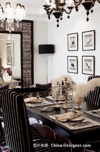 南京侨鸿皇冠双星样板房-高龙的设计师家园-住宅公寓样板间,2009-2010中国家居设计流行趋势发布,混搭,新古典,奢华,黑色