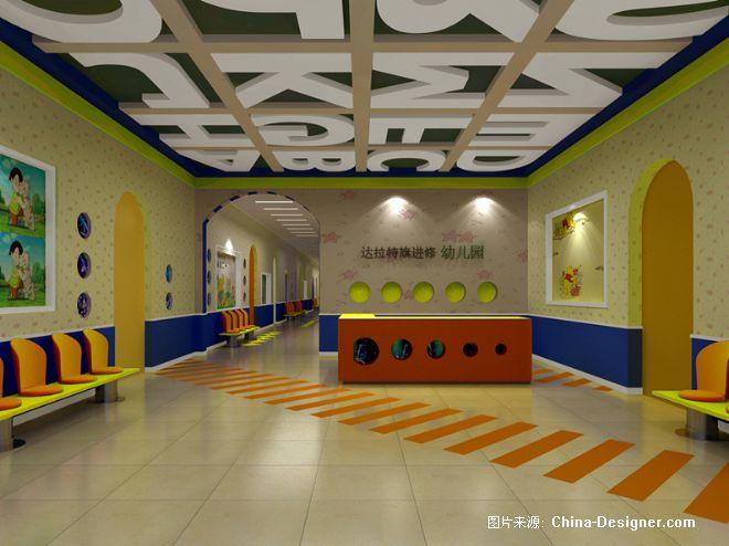 幼儿园过道柱子手工制作布置