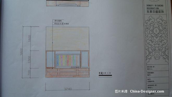 电视背景墙立面图