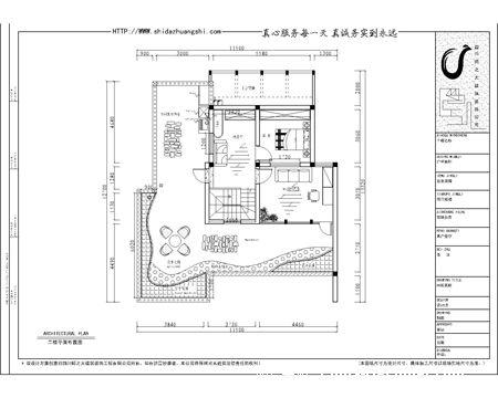 江安花园 一楼平面布置图