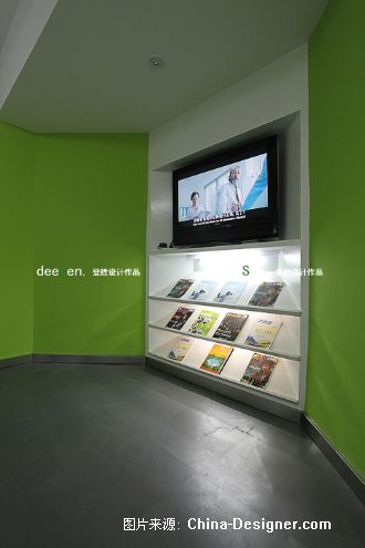 美承数码客服中心-陶胜的设计师家园-绿色,现代