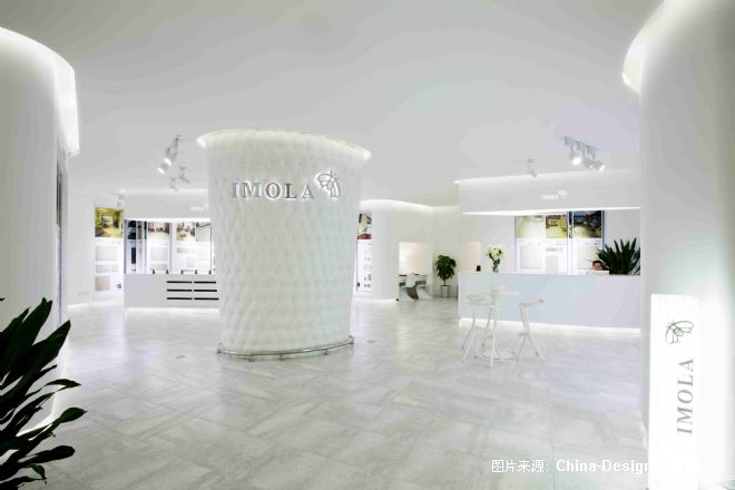 """""""蜜蜂瓷砖""""概念店-赵学强的设计师家园-现代,白色"""