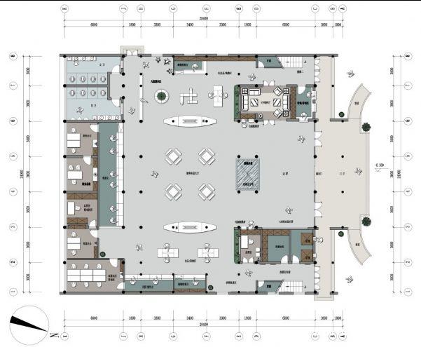 2御王设计-西溪地游客服务中心一层平面图-201101252图片