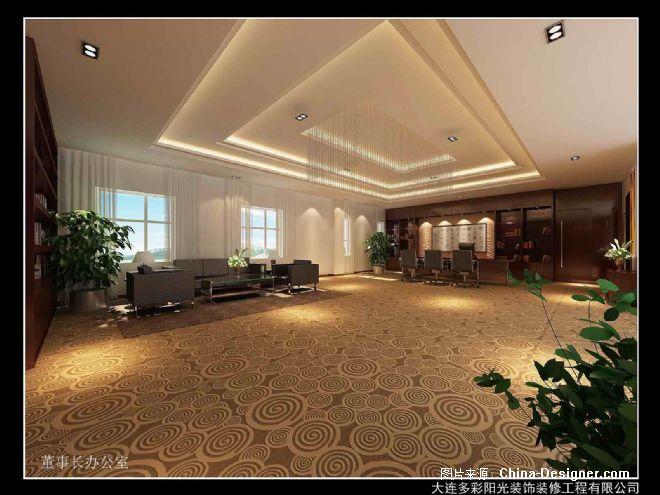 大连钢联金属材料有限公司办公楼设计方案-孟玄的设计师家园-中式