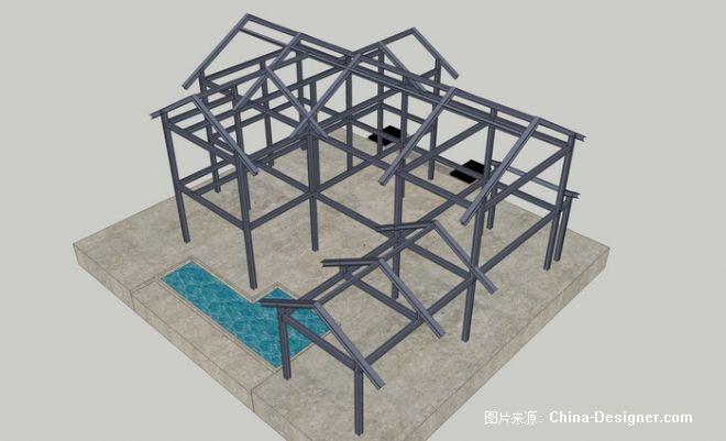 钢结构别墅-赵杰的设计师家园-中式