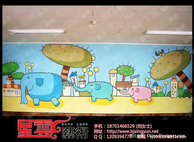 幼儿园彩绘 幼儿园墙画 亲子园卡通画 幼儿园壁画 亲子园卡通画-北京