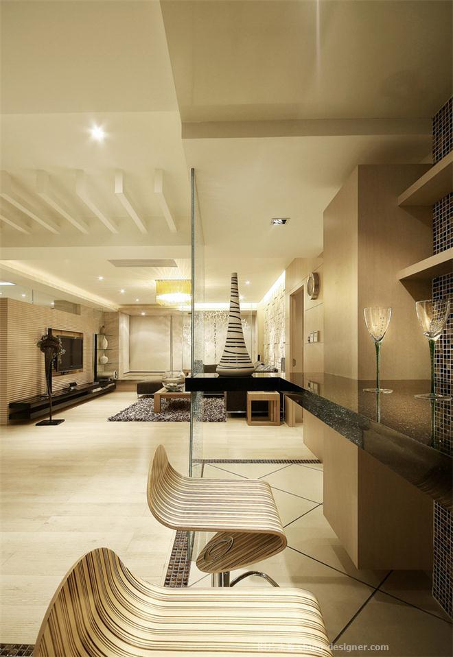 淡雅主义-席向前的设计师家园-现代简约,书房,餐厅,三居