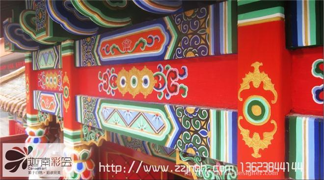 旋子彩绘风格-郑州手绘墙绘壁画装饰公司的设计师家园-民族特色餐馆