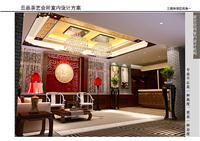 设计师家园-银川永康商业街云品茶楼室内设计