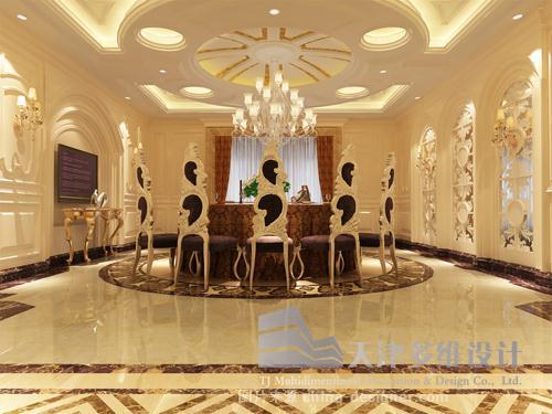 天津多维设计――九福酒楼室内设计-天津多维装饰设计有限公司的设计师家园-室内设计 天津设计