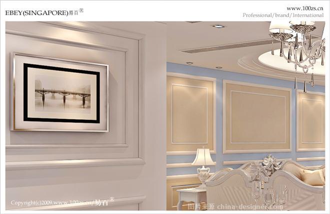 """""""法式风"""" 龙城华府小区-冯易进的设计师家园-现代欧式,四居及以上"""