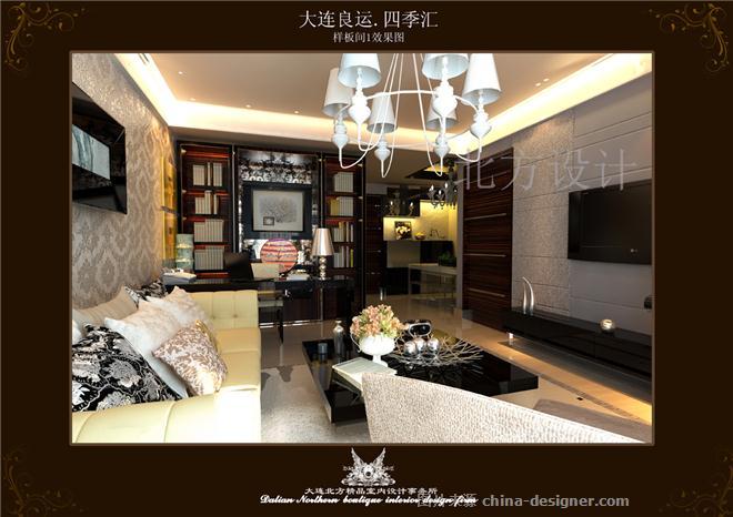 样板间作品-黄金程的设计师家园-别墅样板间